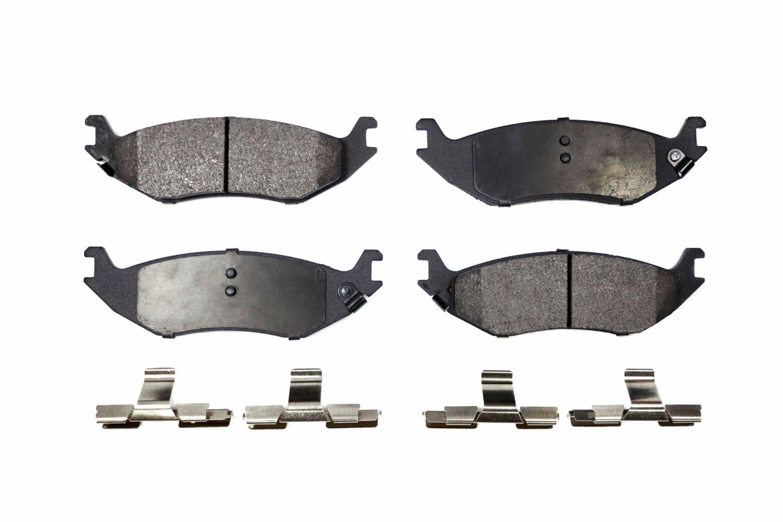 Positive Plus PPF-D966 Semi-Metallic Brake Pad Set with Hardware Kit